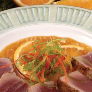 Seared Yellowfin Tuna with Orange Teriyaki