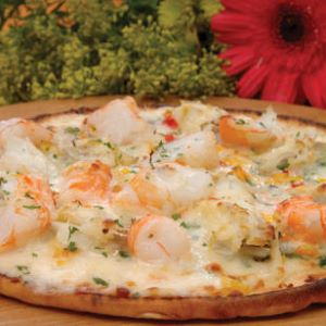 Shrimp and Blue Crab Pizza