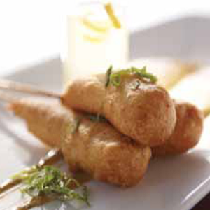 Wild Gulf Coast Shrimp Corn Dogs with Tabasco Mash Remoulade