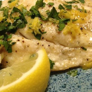 Gulf Fish in Parchment with Citrus Reduction